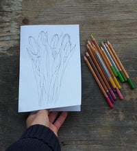 Load image into Gallery viewer, Printable Colour in Tulip card