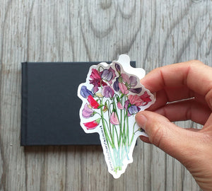 Sweet Pea Bouquet Sticker by Alice Draws The Line