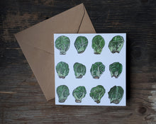 Load image into Gallery viewer, Sprouts, sprouts, sprouts A square Christmas card