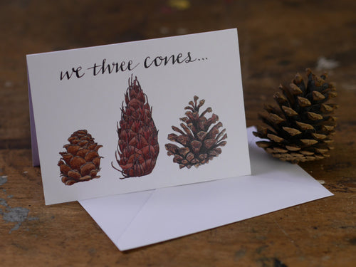 We Three Cones Greeting Card Sale Pack of 4