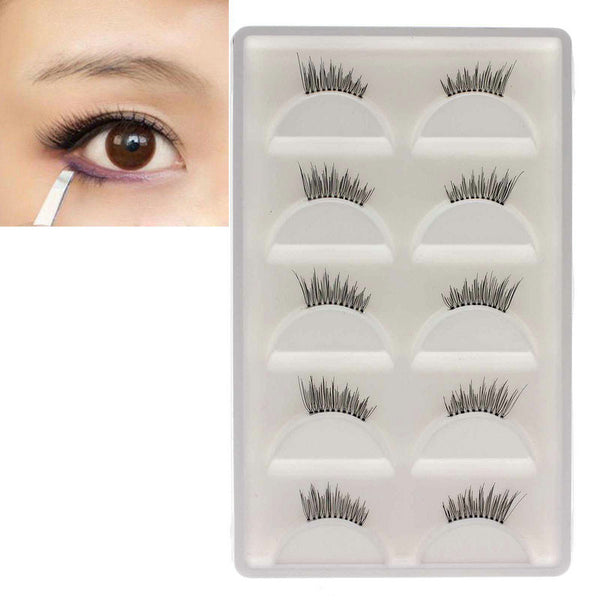5Pairs  Lady's Half False Eyelashes