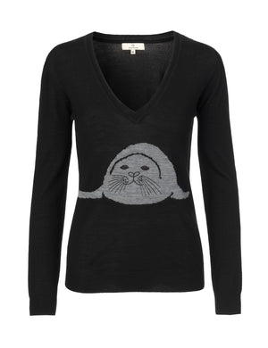 Load image into Gallery viewer, 1263 Seal knit Black