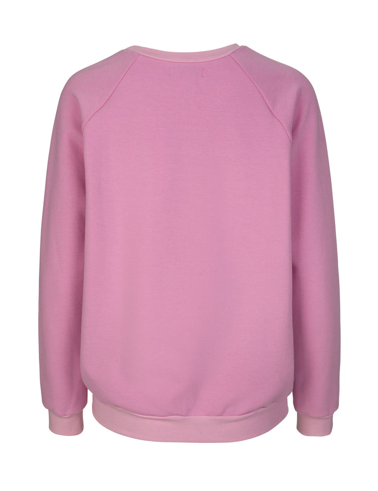 Load image into Gallery viewer, 1381 Silk front sweatshirt Susan Pink