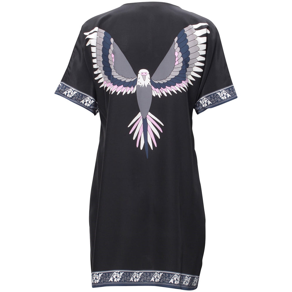 Load image into Gallery viewer, 1440 Superdress V-neck Flying bird Grey