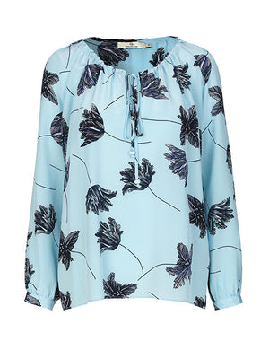 Load image into Gallery viewer, 1513 Pearl blouse Tulippa Blue