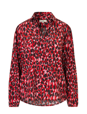 Load image into Gallery viewer, 1816 Sara blouse Catalina Red