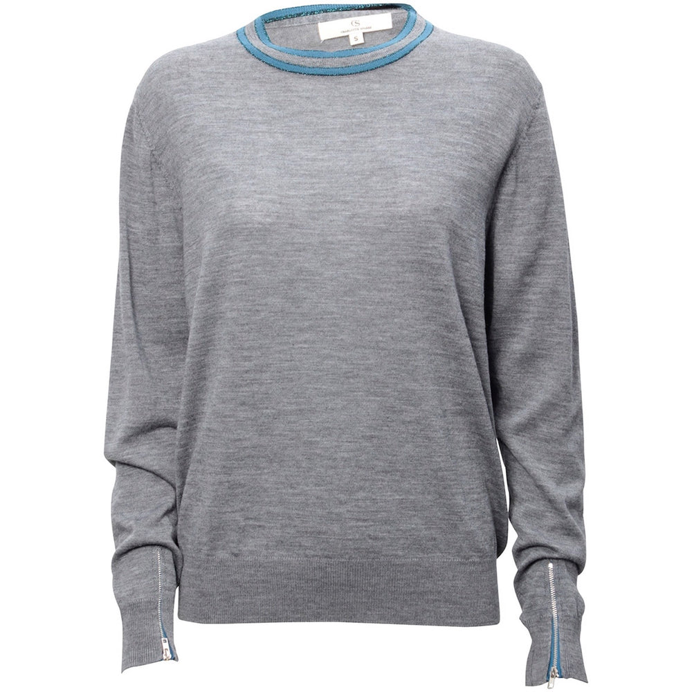 Load image into Gallery viewer, 1861 Merino round neck Solid grey