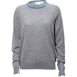 1861 Merino round neck Solid grey