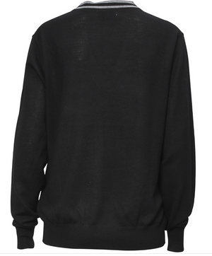 1862 Merino V-knit Solid black