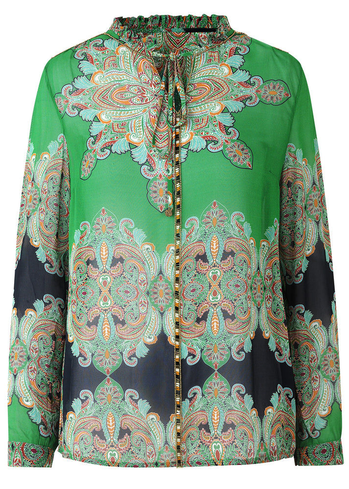 Load image into Gallery viewer, 2160 Always shirt Star paisley Green