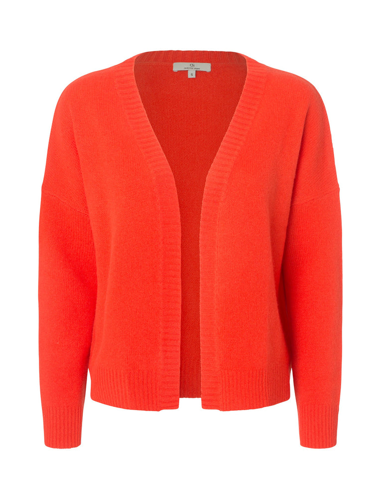 2226 Cashmere cardigan Solid Orange