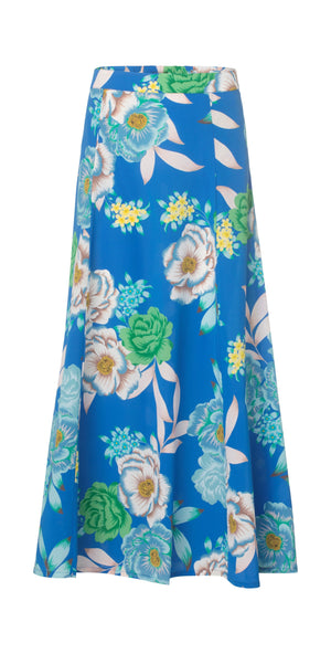 Load image into Gallery viewer, 2325 Silk skirt Popi Cobalt