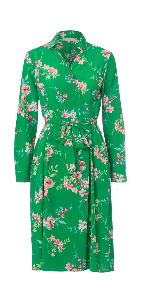 Load image into Gallery viewer, 2329 Wrap shirt dress Iben Green