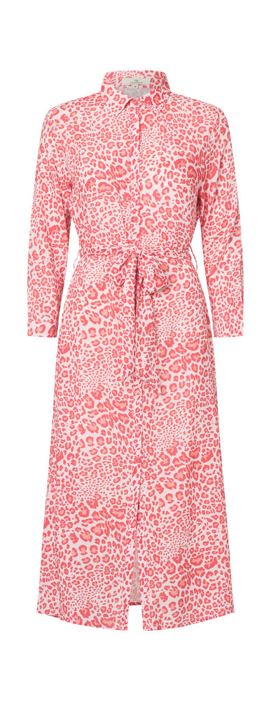 Load image into Gallery viewer, 2357 My shirt dress Wildlife Red