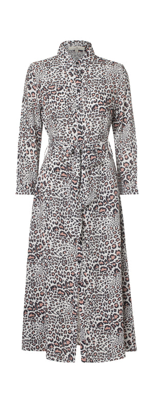 2357 My shirt dress Wildlife Cream
