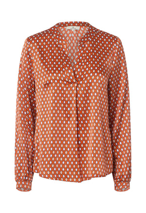 Load image into Gallery viewer, 2423 Spark blouse Harlequin Orange