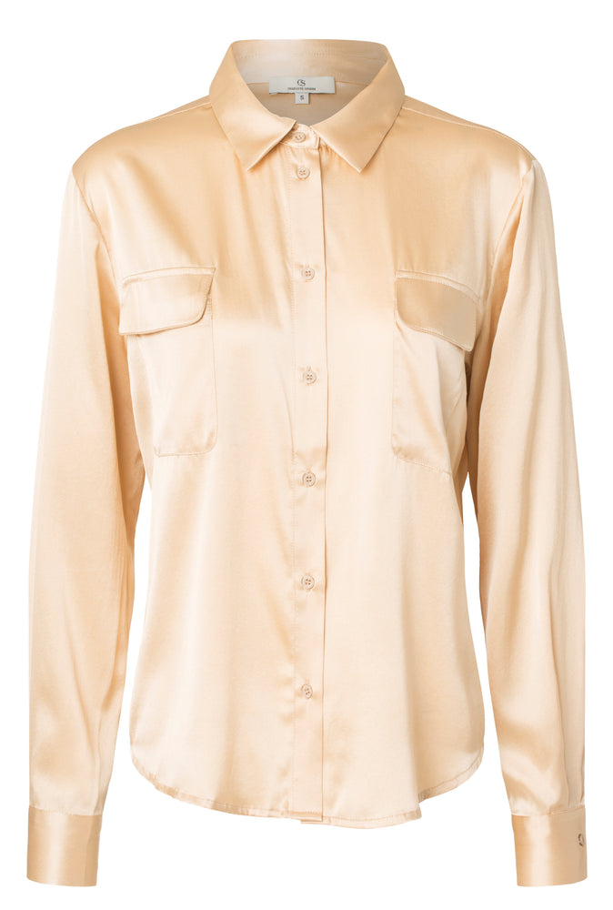 Load image into Gallery viewer, 2428 Classic shirt Solid Cream