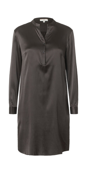 Load image into Gallery viewer, 2429 Shirt dress Solid Black