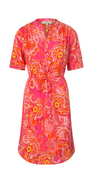Load image into Gallery viewer, 2581 Shirt dress My paisley Pink