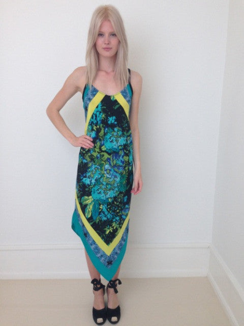 Load image into Gallery viewer, 1312 Front tip dress Petra Azur