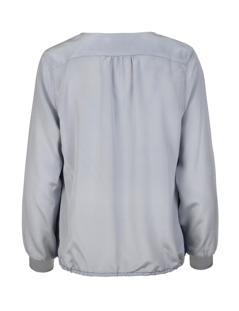 Load image into Gallery viewer, 1202 Shoulder blouse Seal Grey