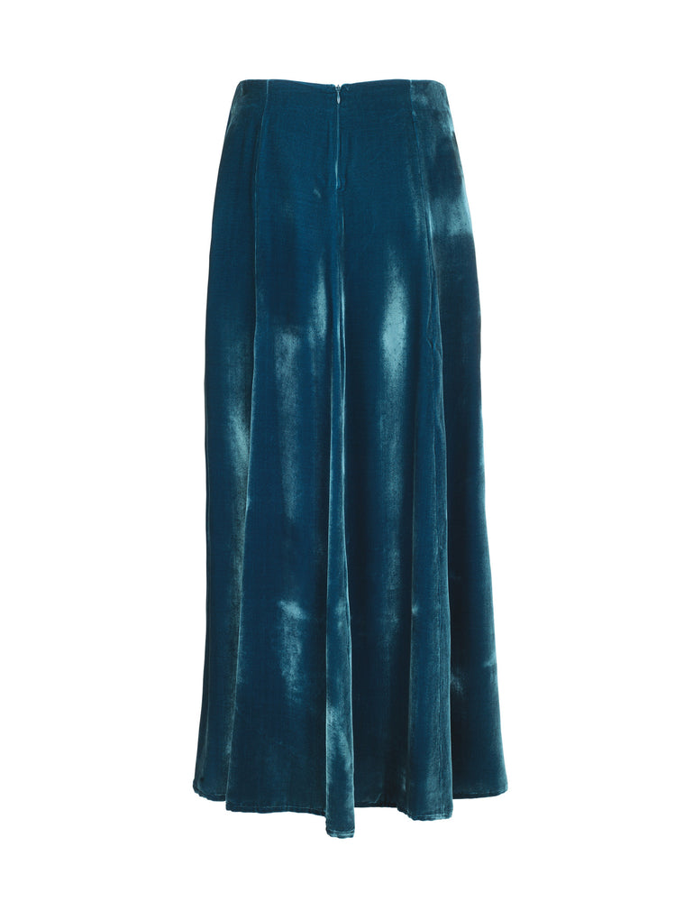 1240V Mermaid skirt Solid velvet Petrol