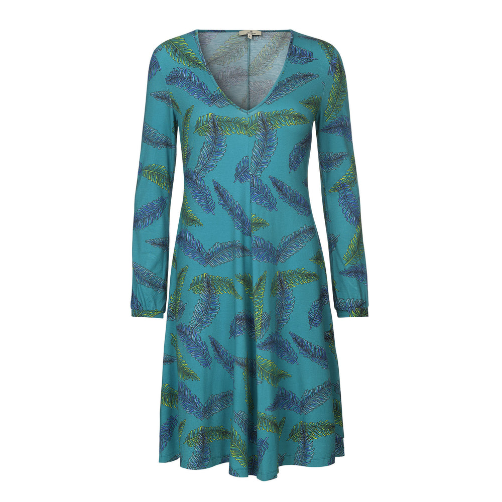 Load image into Gallery viewer, 1173 Jersey swing dress Charlotte Turquoise
