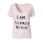 1180 T-shirt Crazy bitch Rose