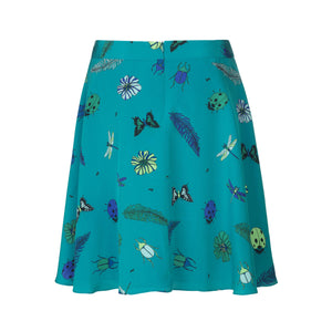 Load image into Gallery viewer, 1125 Round skirt Summer garden Turquoise