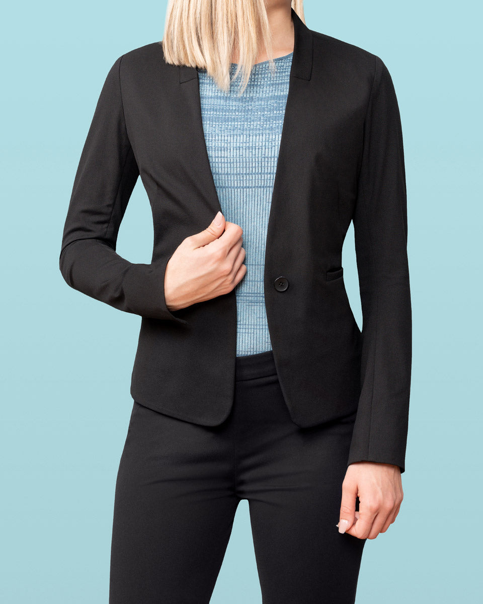 Navy Blue Blazer Women Business Suits Formal Office Suits Work Wear Uniforms Ol Styles Ladies Pant And Jacket Set Aesthetic Appearance Back To Search Resultswomen's Clothing