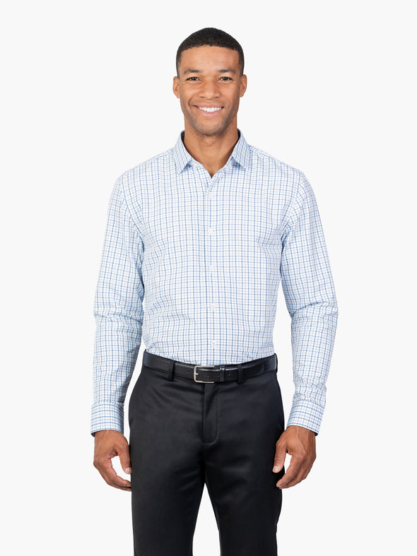 Men's Aero Zero Dress Shirt - Blue Tattersall