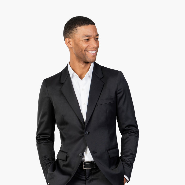 Men's Velocity Merino Suit Jacket - Charcoal