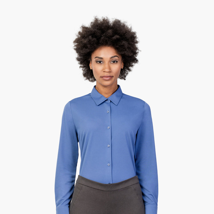 Women's Apollo Tailored Shirt - Ocean Blue