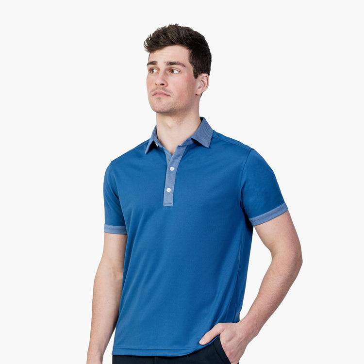 Apollo 4 Polo - Royal Blue Tipped