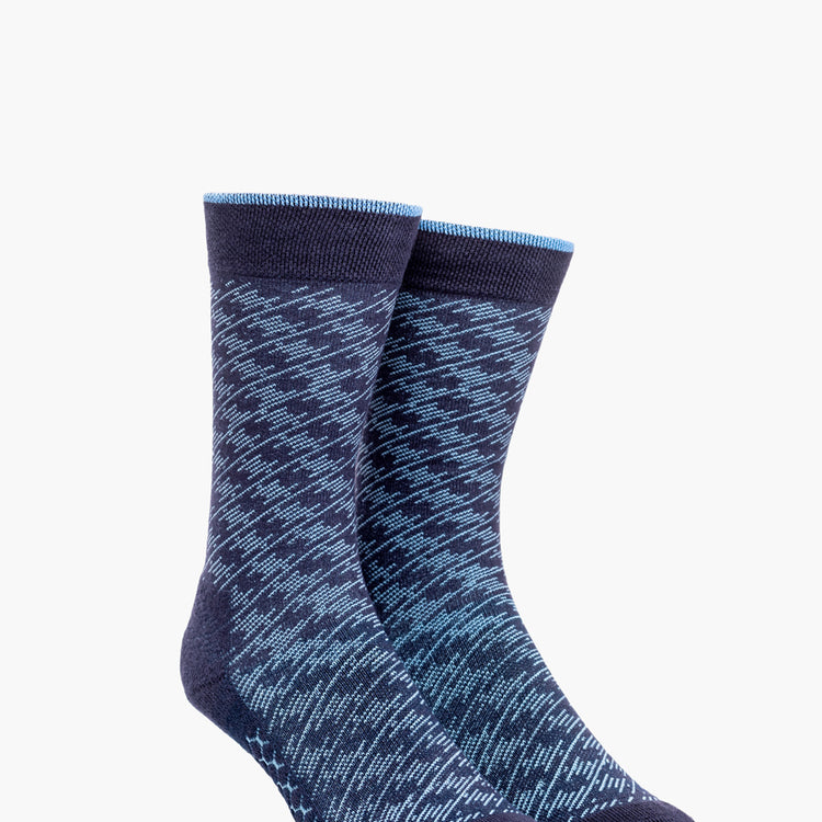 Atlas Dress Sock (AL6) - Blue Static