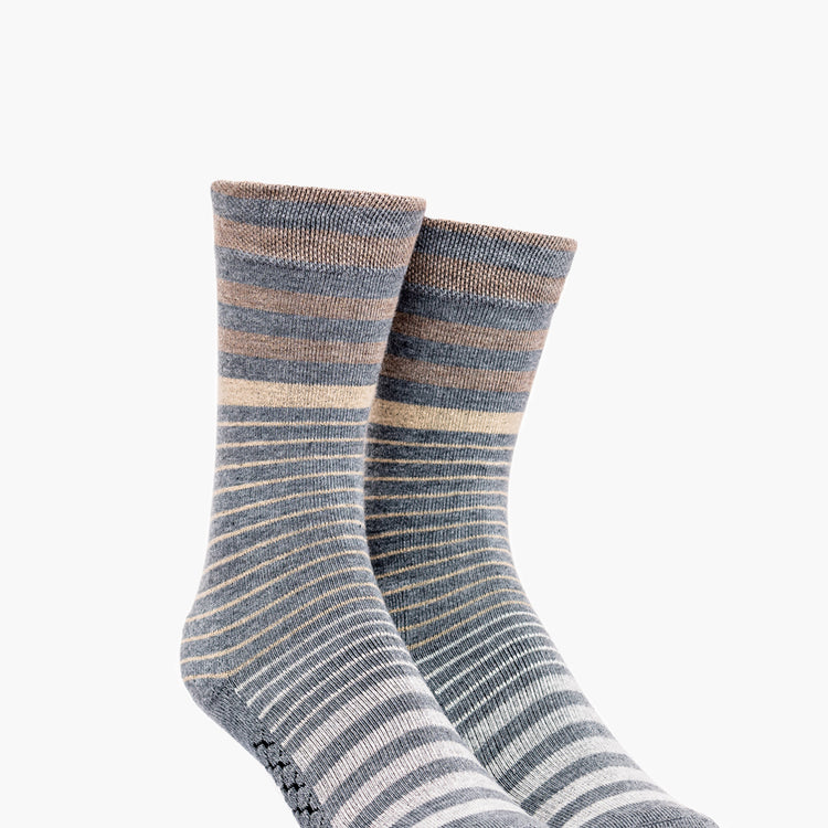 Atlas Dress Sock (AL6) - Tan Stripe Gradient