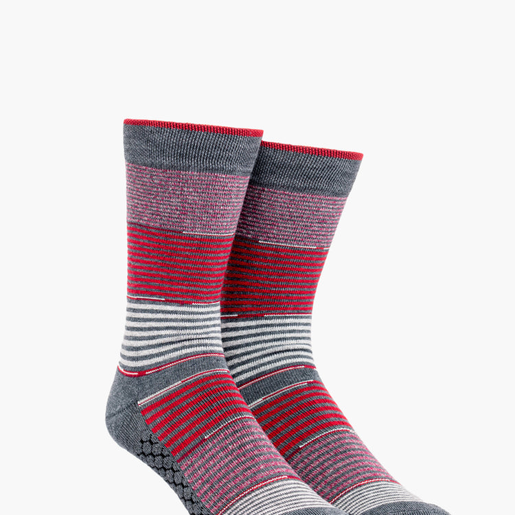 Atlas Dress Sock (AL6) - Red Striped Gradient