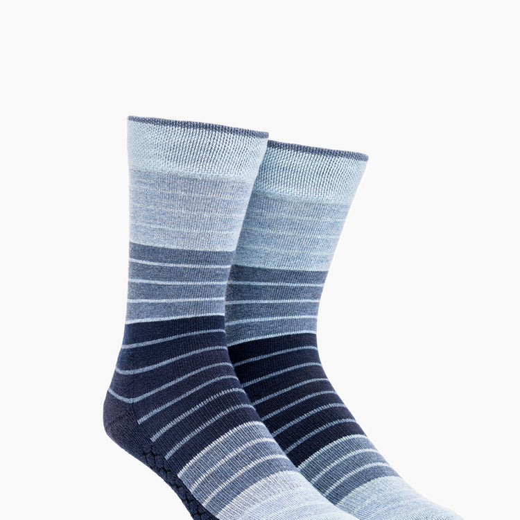 Atlas Dress Sock (AL6) - Blue Stripe Gradient