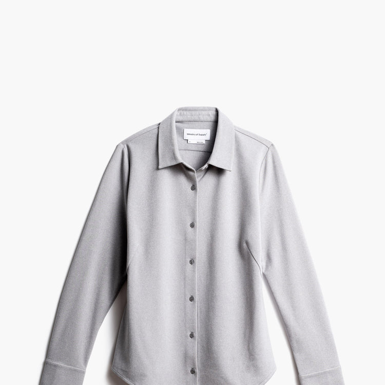 Women's Apollo Tailored Shirt - Grey White Heather