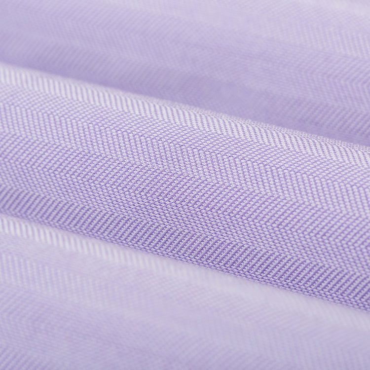 Men's Built to Order Dress  Shirt - Lavender Herringbone