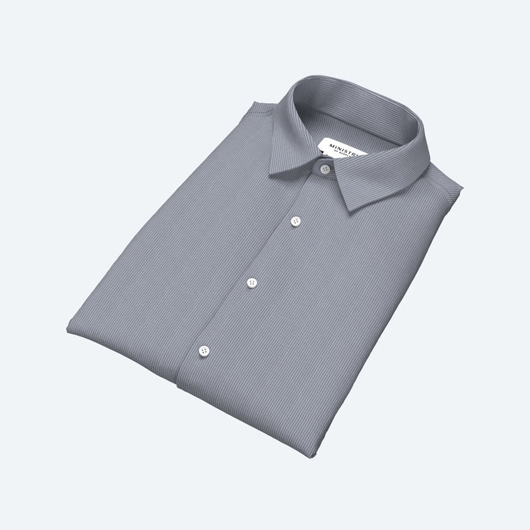 Men's Built to Order Dress  Shirt - Grey Stripe