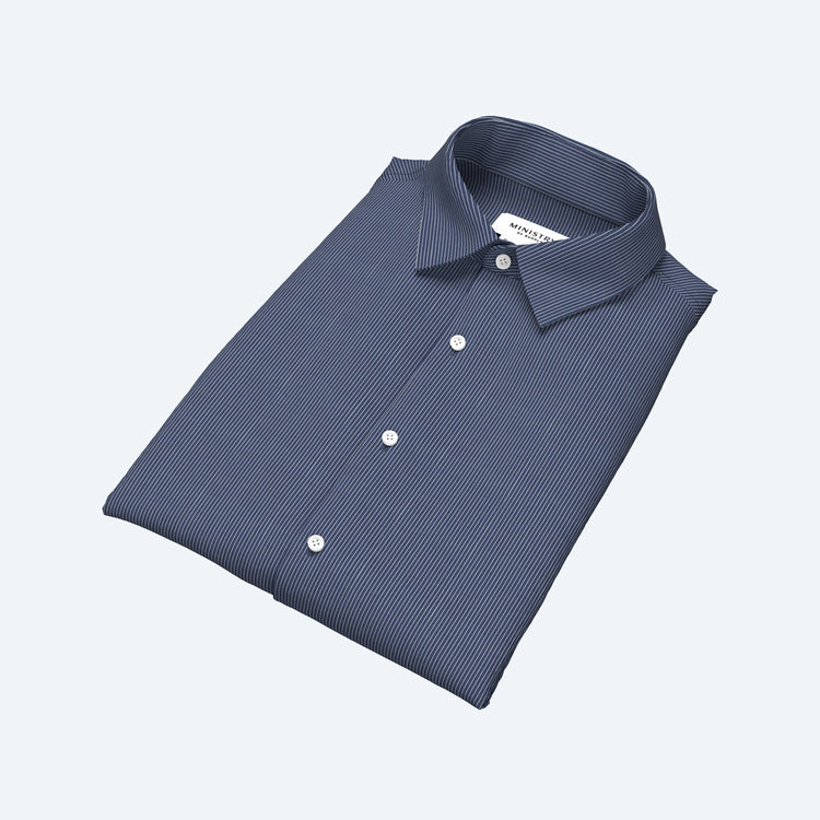 Men's Built to Order Dress  Shirt - Blue Stripe