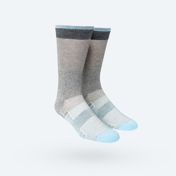 Atlas Dress Sock - Blue Grey Block