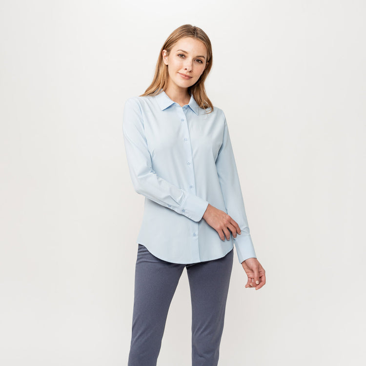 Women's Juno Tailored Dress Shirt - Chambray