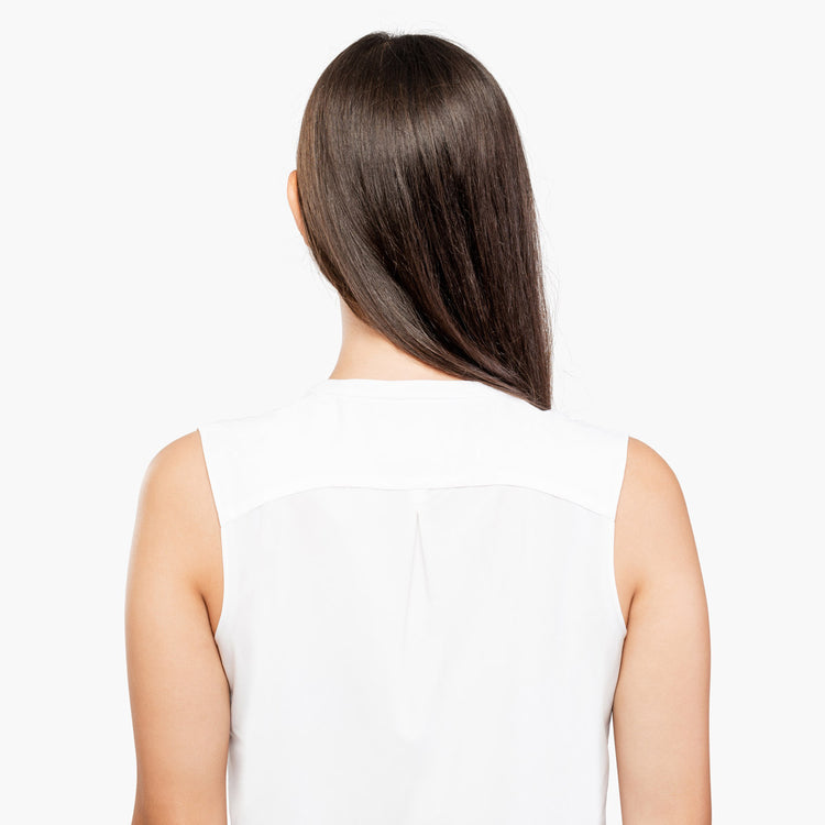 Juno Sleeveless Blouse - White
