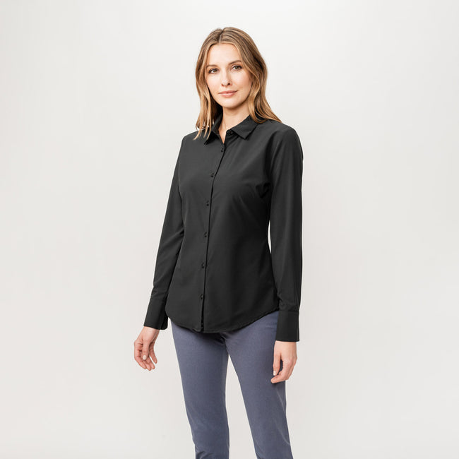 976cdfd8 Women's Juno Tailored Shirt | Black | Ministry of Supply