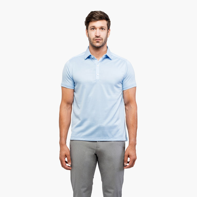 Apollo Polo - Light Blue Brushed