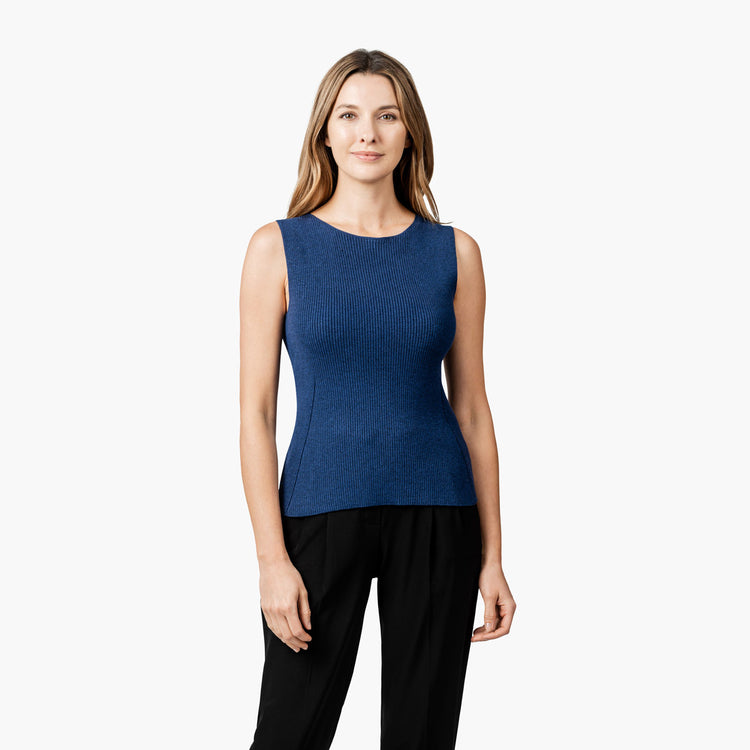 Women's 3D Print-Knit Tank - Navy
