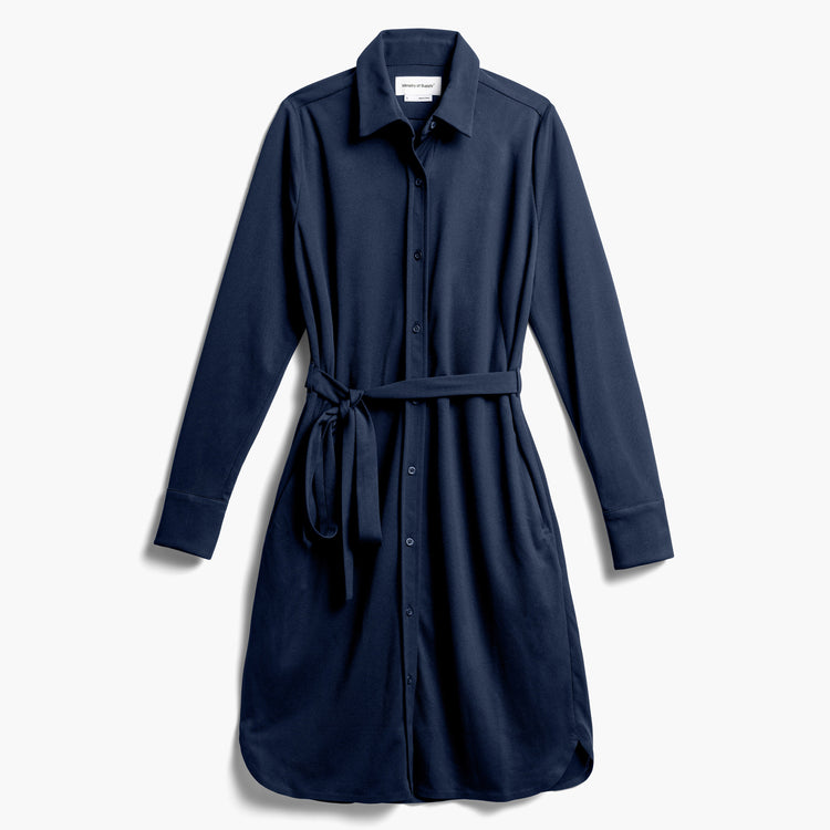 Women's Apollo Shirt Dress - Navy