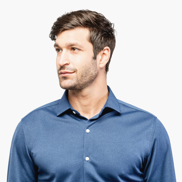 Apollo Dress Shirt - Navy Oxford